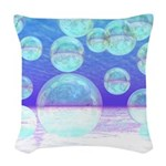 Frosty Clarity Abstract Woven Throw Pillow