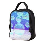 Frosty Clarity Abstract Neoprene Lunch Bag