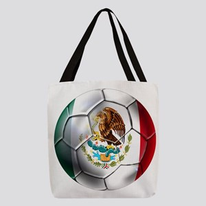 Mexican Soccer Ball Polyester Tote Bag