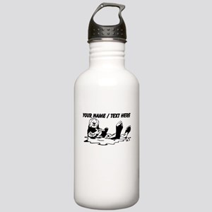Custom Sea Otter Sketch Water Bottle