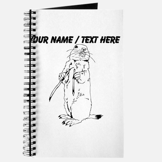 Custom Otter Sketch Journal