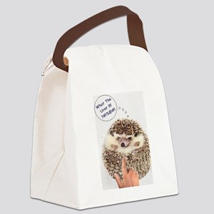 Angry Hedgehog Canvas Lunch Bag