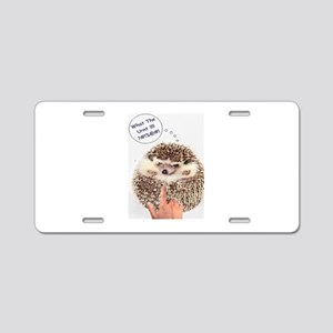 Angry Hedgehog Aluminum License Plate