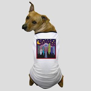Seattle Skyline Mega Color Dog T-Shirt