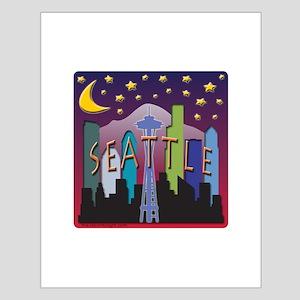 Seattle Skyline Mega Color Posters