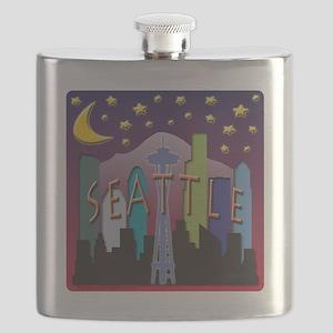 Seattle Skyline Mega Color Flask