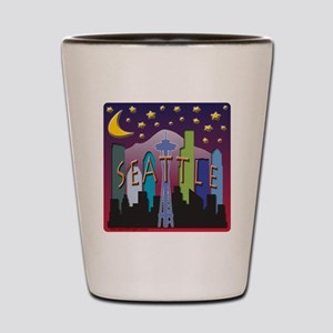 Seattle Skyline Mega Color Shot Glass