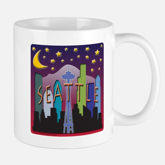 Seattle Skyline Mega Color Mug