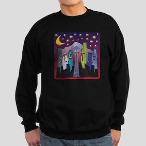 Seattle Skyline Mega Color Sweatshirt