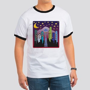 Seattle Skyline Mega Color T-Shirt