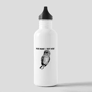 Custom Owl Sketch Water Bottle