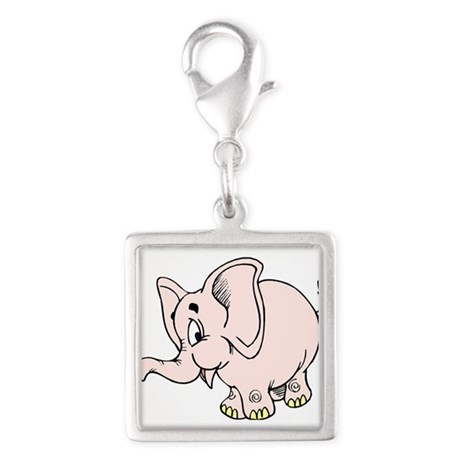 Pink baby elephant graphic Charms