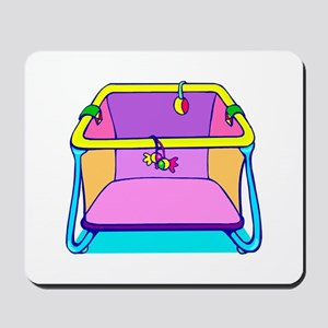 Playpen colorful graphic Mousepad