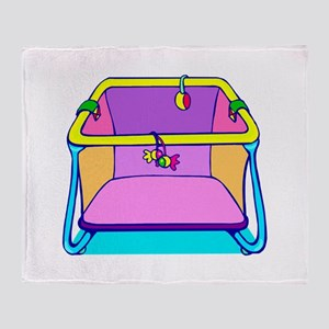 Playpen colorful graphic Throw Blanket