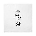 Keep Calm and Sail On Queen Duvet
