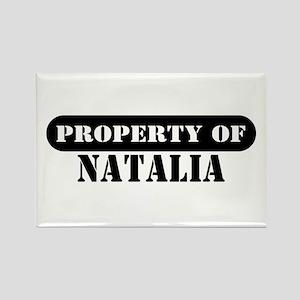 Property of Natalia Rectangle Magnet