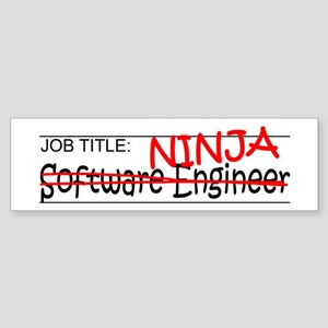 Job Ninja Software Engineer Sticker (Bumper)