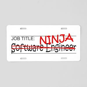 Job Ninja Software Engineer Aluminum License Plate