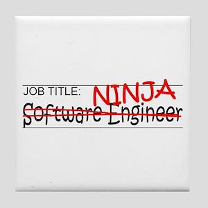 Job Ninja Software Engineer Tile Coaster