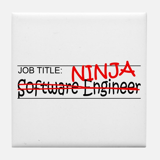 Job Ninja Software Engineer Tile Coaster