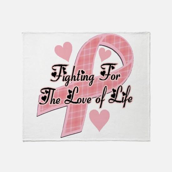 plaidbreastcancer.jpg Throw Blanket