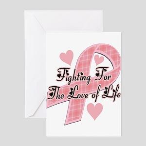 plaidbreastcancer Greeting Card