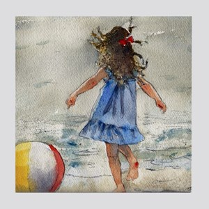 Beach Girl 2 Tile Coaster