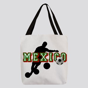 Mexican Soccer Player Polyester Tote Bag