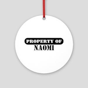 Property of Naomi Ornament (Round)