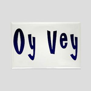 Oy Vey Yiddish Rectangle Magnet