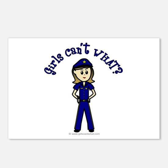 Light Police Woman Postcards (Package of 8)