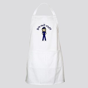 Light Police Woman BBQ Apron