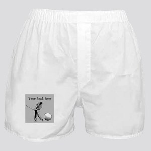 Customizable Golfer and Golf Ball Boxer Shorts