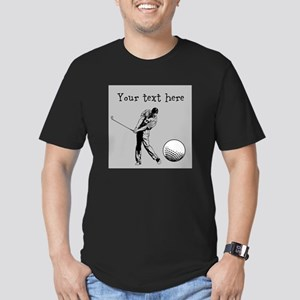 Customizable Golfer and Golf Ball T-Shirt