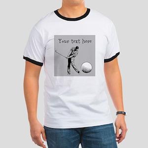Customizable Golfer and Golf Ball T-Shirt