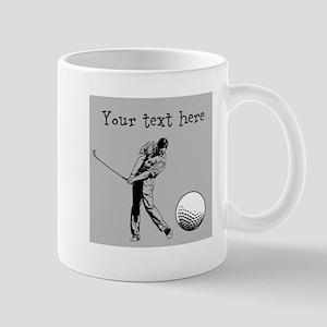 Customizable Golfer and Golf Ball Mug