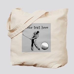 Customizable Golfer and Golf Ball Tote Bag