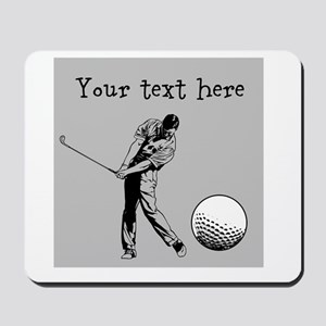 Customizable Golfer and Golf Ball Mousepad