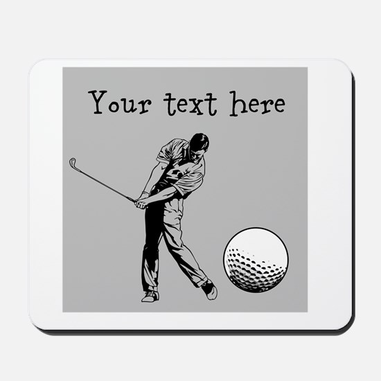 Customizable Golfer and Golf Ball Mousepad