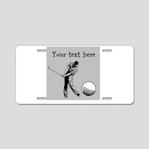Customizable Golfer and Golf Ball Aluminum License