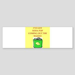 soda pop Bumper Sticker