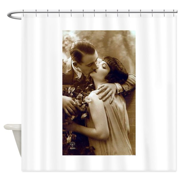 Romantic Kiss Shower Curtain By Evolveshop
