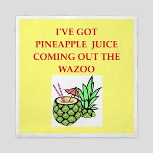 pineapple juice Queen Duvet