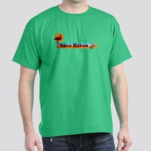 Boca Raton - Beach Design. Dark T-Shirt