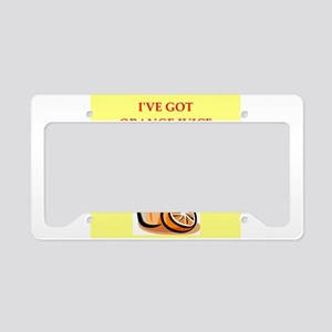 orange juice License Plate Holder