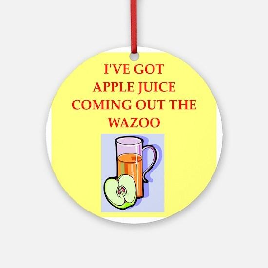 apple juice Ornament (Round)