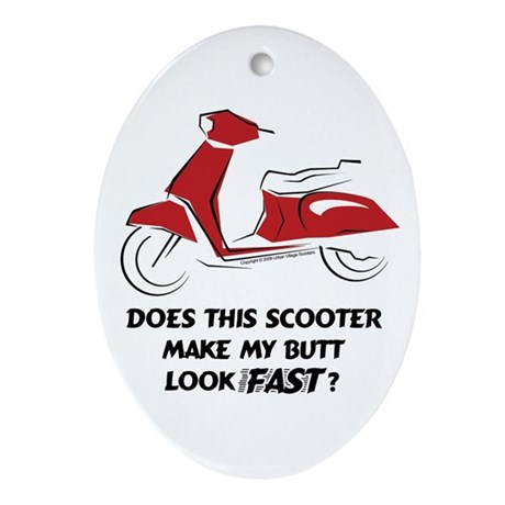 Fast Butt (Red) Oval Ornament