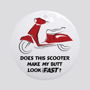 Fast Butt (Red) Ornament (Round)
