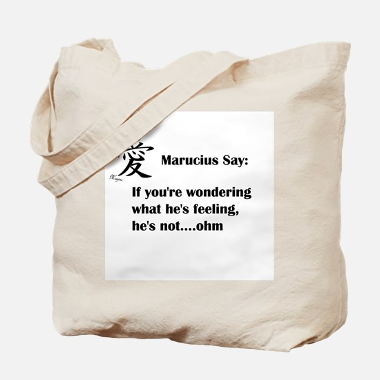 Marucius Say: Hes not feeling Tote Bag