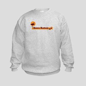 Boca Raton - Beach Design. Kids Sweatshirt